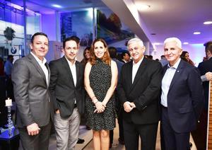 Diego Camargo, Ricardo Humphrey, Maru Escobedo, Samir Mansur y Eduardo Viollela