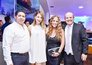 Gustavo Mendoza, Gabriela Castañeda, Cokina Zamora y Eduardo Flores
