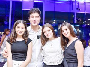 Rania, Antuan, Frida y Yazmín