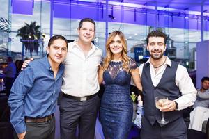 Raúl Pérez, Agustin Hinterholzer, Vicky Quiroz y Juan Kuri
