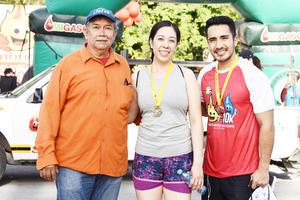 Gerardo, Sara y Allan