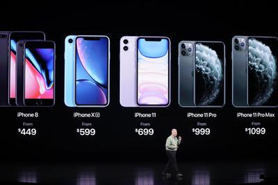 Estos son los costos de los nuevos productos de Apple.