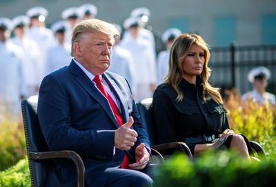 El presidente estadounidense estuvo en el Pentágono.