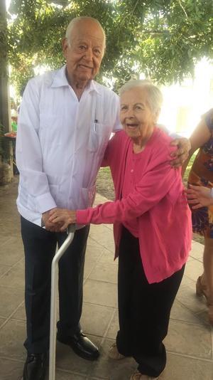 13092019 CUMPLE 92 AñOS.  Jorge Emilio celebró su cumpleaños en compañía de Elsa Máynez.