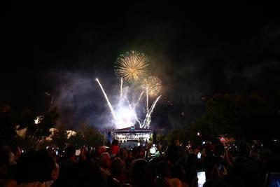 El concierto que ofrecieron fue totalmente gratuito, como parte de la celebración de las fiestas patrias, que organizó el Gobierno del Estado.