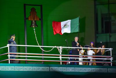Zermeño dio el tradicional grito de Independencia.