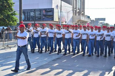 Participaron jóvenes del Servicio Militar Nacional.