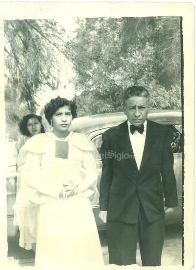 Recuerdo de boda en 1961.