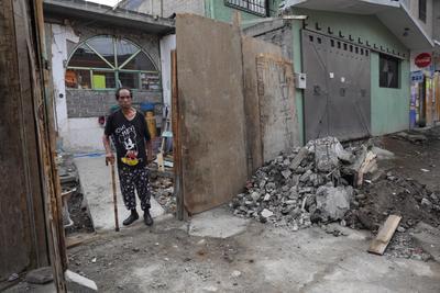 Baltazar muestra daños en la zona de Iztapalapa.