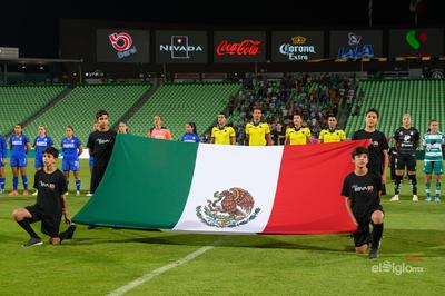 Honores a la Bandera   Santos vs Cruz  juego correspondiente a la jornada 10 de la apertura 2019 de la Liga MX femenil en TSM Oficial - lunes 16 de septiembre de 2019 21:00h
