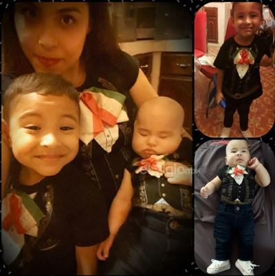 Galilea y sus pequeños mariachis, Dylan y Jorge.