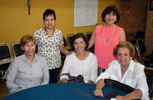 24092019 EN SU REUNIóN MENSUAL.  Rosa María, Chepis, Guadalupe, María del Pilar y Rosy.