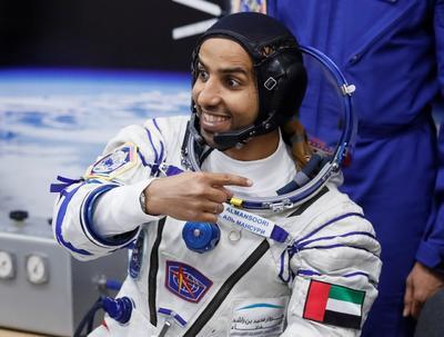 El astronauta Hazzaa AlMansoori es el primer emiratí en viajar al espacio.