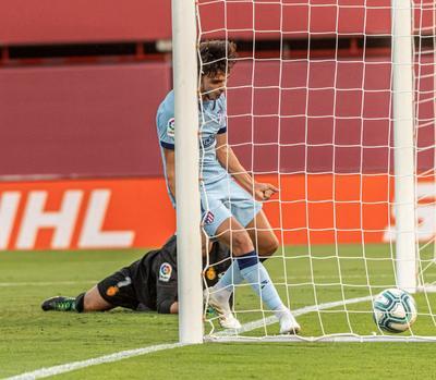 Joao Félix celebra el gol marcado ante el Mallorca