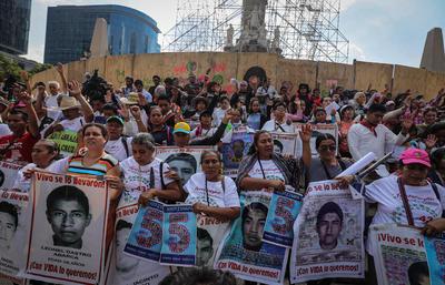 Misa en honor a los desaparecidos de Ayotzinapa.