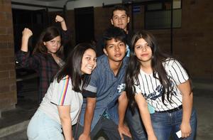 27092019 GRATOS MOMENTOS.  Leyla, Julia, Nathan, Lupita y Erick.
