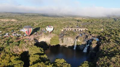 Pilotos despegarán los globos para sobrevolar las cascas de El Saltito.