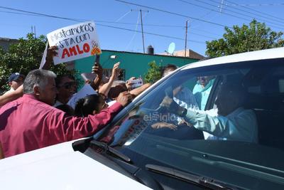 En Matamoros, fue recibido el presidente.