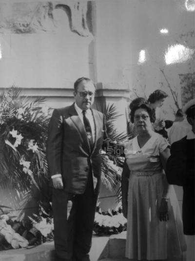 Lic. Jesús Mario del Bosque toma posesión como presidente del Comité Municipal en marzo de 1959.