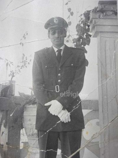 Manuel Muñiz socorrista de la Cruz Roja en 1962.