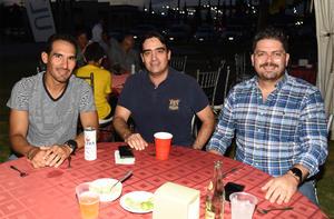 28092019 Francisco Cázares, Beto Mexsen y Alejandro Mexsen.