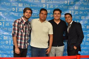 30092019 EN PRESENTACIóN DE CORTOMETRAJE.  Cristian, Haziel, Rafa y Juan Pablo.