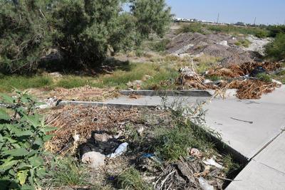 Mal aspecto. La falta de limpieza da una mala imagen en el punto donde se pasa de Torreón a Gómez Palacio o viceversa, asimismo en ocasiones los desechos despiden olores desagradables.