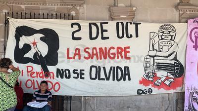 A decir del dirigente de dicha organización, Nobel Galván, el objetivo de la manifestación fue recordar la matanza del 2 de octubre.
