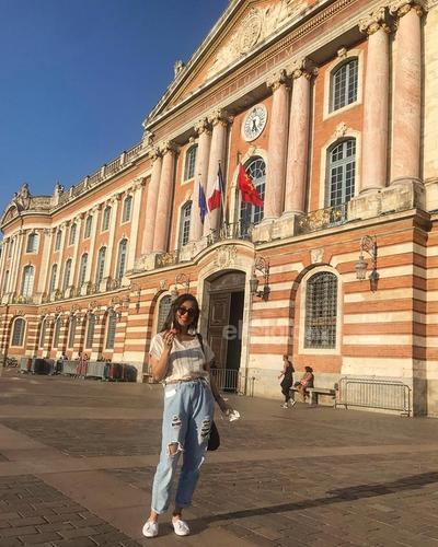Andrea Cano, disfrutando de Europa.