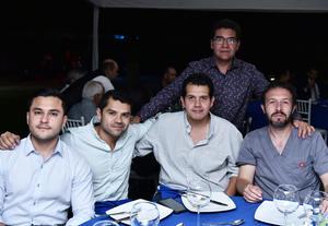 07102019 Alejandro Juárez, Omar Aldana, Iván Briceño, Antonio Zapata y Fidencio Reyes.