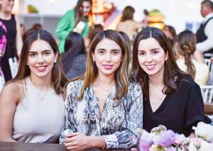 Andrea Fuentes, Diana Silva y Ana Sofía Ramírez.