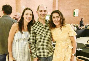 Alejandra Zermeño, Fabian Garibay y Cecilia Urquizo.