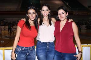 08102019 Eri Ortega, Amine González y Inés Torres.