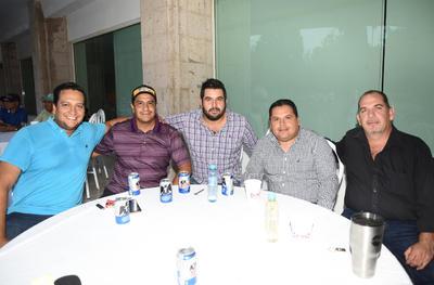 Cristian Padilla, Mauro Campos, Alejandro Gaucín, Cuitlahuac Cuellar y Alberto Sejas.