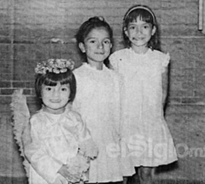 La pequeña Marytere Limones en compañía de sus hermanos Gabriela Morina y Georgina Mayela en Gómez Palacio, Durango en el año 1967.