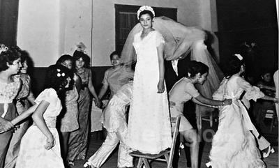 Alma Delia Miranda Magallanes el día de su boda, hace algunas décadas.