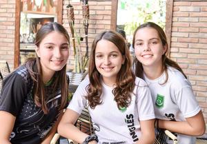 Anafer Franco, Sofia Amarante e Isabel Fernandez.