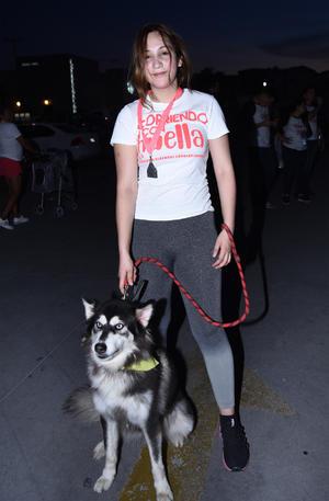 15102019 Danna Lara, con su perrita Kiara.