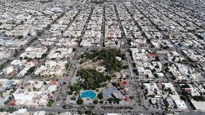 Áreas Verdes, Torreón.  Reforestación Torreón  Toma aérea, Dorne, Alameda de Torreón.