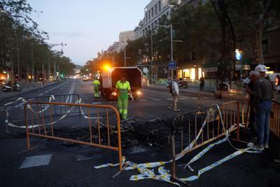 La Policía regional catalana detuvo a 30 personas a causa de las algaradas.