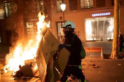 Se han registrado disturbios en las manifestaciones independentistas.
