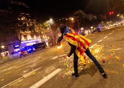 Las algaradas más graves sucedieron en el centro de Barcelona.