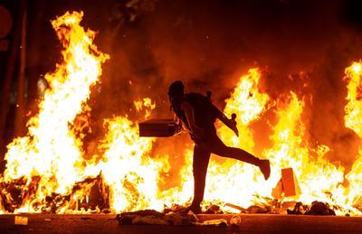 Siguen las protestas en Cataluña.