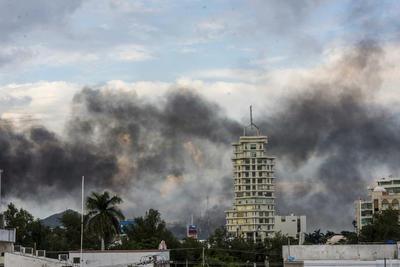 Alrededor de las 15:30 horas la ciudad fue escenario de enfrentamientos armados y terror.