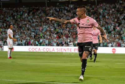 celebración de gol  Brian Lozano  Brian Avelino Lozano Aparicio #15 Medio Santos  Santos vs Tijuana  juego correspondiente a la jornada 14 de la apertura 2019 de la Liga MX en TSM Oficial - viernes 18 de octubre de 2019 21:06h