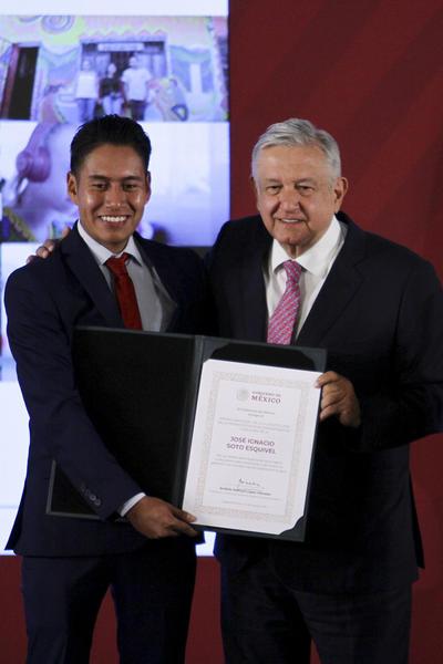 José Ignacio Soto Esquivel, distinción Ingenio Emprendedor, categoría B.