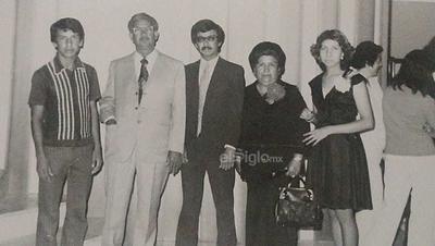 Familia Miranda Magallanes. Arnoldo, Armando, Armando Jr, Rita y Ana Bertha. Años 80's