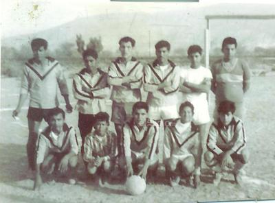 Equipo Lavatap de la colonia La Constancia, campo La Griega. Los hermanos José Luis, Hugo y Manuel Gómez Esparza en el año de 1995.