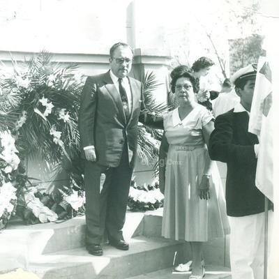 Lic. Jesús Mario del Bosque toma posesión como presidente del comité municipal. Marzo 3 de 1959.