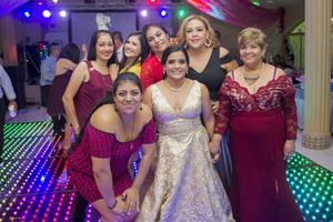 20102019 Amigas de la festejada, Mónica Juanita, Dayeli Soto, Carmen Nájera, Adriana Esparza, Verónica y Elvia Díaz.
